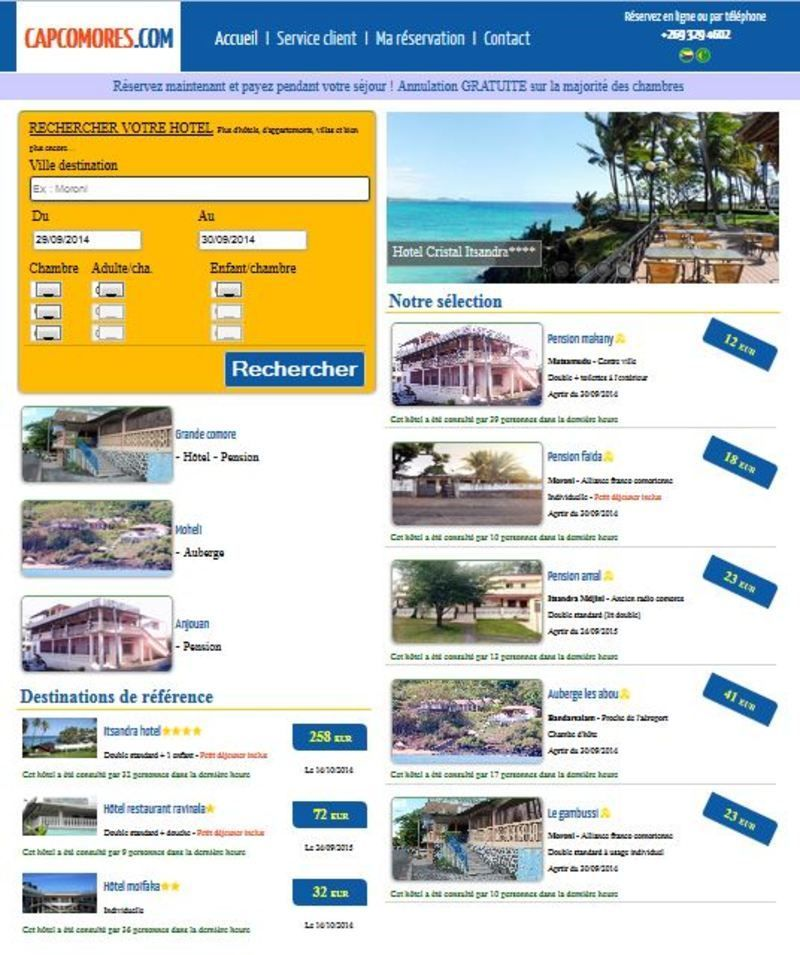 Auberge for Site reservation hotel pas cher